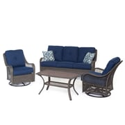 Longshore Tides Nunda 4 Piece Deep Seating Group w/ Cushion