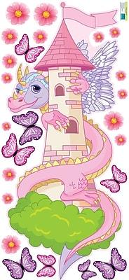 Mona Melisa Designs Knight/Dragon Girl Wall Decal