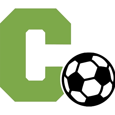 Enchantingly Elegant Letter ''C'' and Soccer Ball Wall Decal; 22'' H x 30'' W x 1'' D