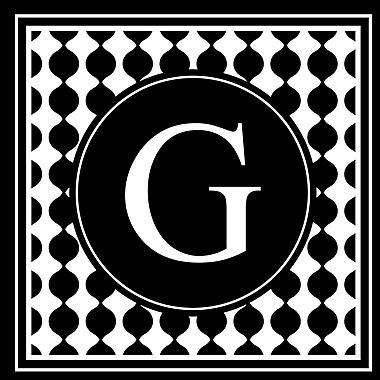 Enchantingly Elegant Letter ''G'' Wall Decal; 17'' H x 17'' W x 1'' D