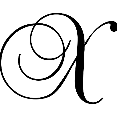 Enchantingly Elegant Letter ''X'' Wall Decal; 17'' H x 22'' W x 1'' D