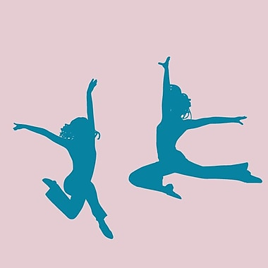 SweetumsWallDecals 2 Piece Dancer Wall Decal Set; Teal
