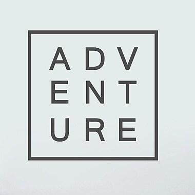 SweetumsWallDecals Adventure Wall Decal; Dark Gray