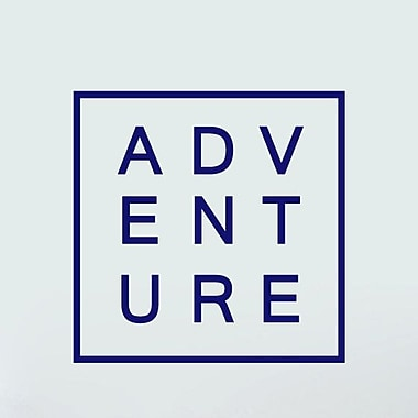 SweetumsWallDecals Adventure Wall Decal; Navy