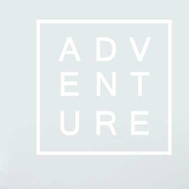SweetumsWallDecals Adventure Wall Decal; White