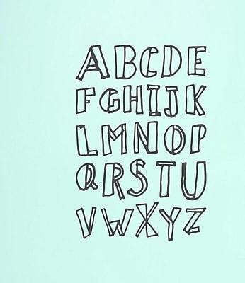 SweetumsWallDecals Alphabet Doodle Wall Decal (Set of 3); Dark Gray