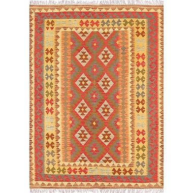 Pasargad Hand-Woven Gold/Tan Area Rug