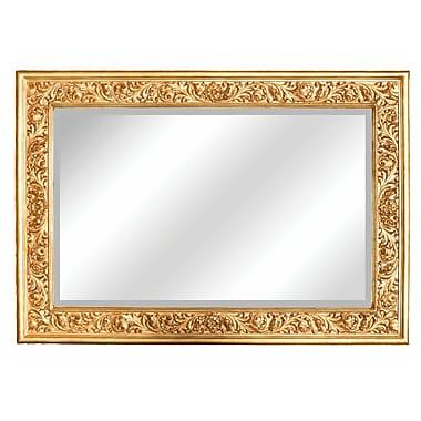 Hickory Manor House Grape Leaf Mirror; Gold Leaf