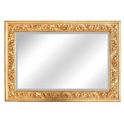 Hickory Manor House Grape Leaf Mirror; Gold Leaf