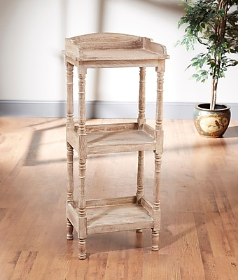 AA Importing Etagere Bookcase; Weathered Sand