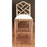 AA Importing 31'' Bar Stool; Pickled