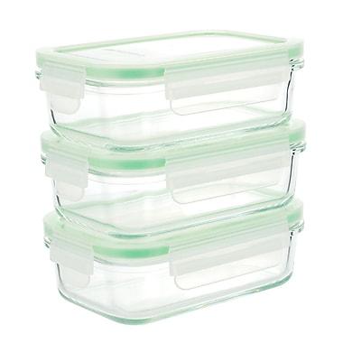 Kinetic GoGREEN Glassworks 3 Container Food Storage Set (Set of 3)
