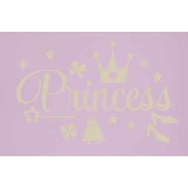 SweetumsWallDecals Princess Wall Decal; Beige