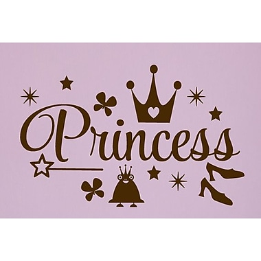 SweetumsWallDecals Princess Wall Decal; Brown