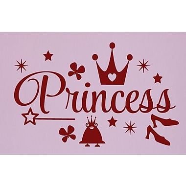 SweetumsWallDecals Princess Wall Decal; Cranberry