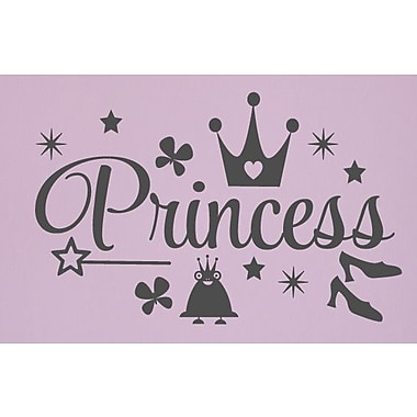 SweetumsWallDecals Princess Wall Decal; Dark Gray