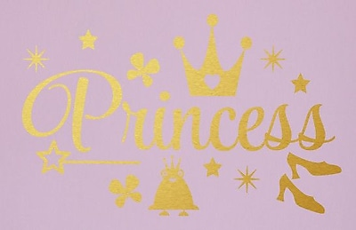 SweetumsWallDecals Princess Wall Decal; Gold