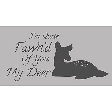 SweetumsWallDecals Quite Fawn'd Of You Wall Decal; Dark Gray