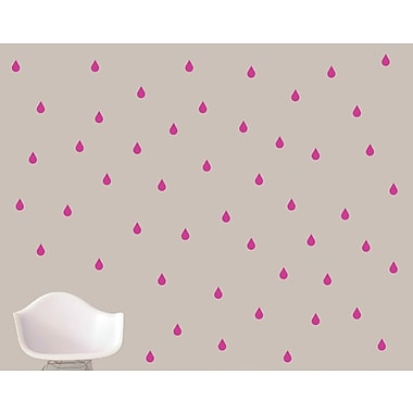 SweetumsWallDecals Raindrops Wall Decal; Hot Pink