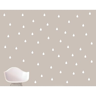 SweetumsWallDecals Raindrops Wall Decal; White
