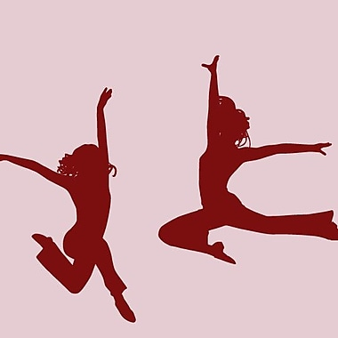 SweetumsWallDecals 2 Piece Dancer Wall Decal Set; Cranberry