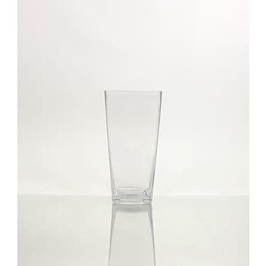 WGVInternational Tapered Down Block Glass Vase; 10'' H x 5'' W x 5'' D