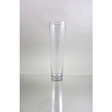 WGVInternational Tapered Down Cylinder Glass Vase; 16'' H x 5'' W x 5'' D
