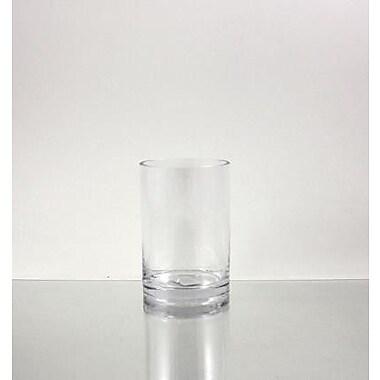 WGVInternational Cylinder Glass Vase; 6'' H x 4'' W x 4'' D