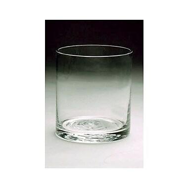 WGVInternational Cylinder Glass Vase; 5'' H x 5'' W x 5'' D