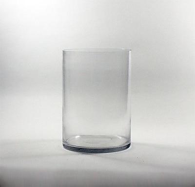 WGVInternational Cylinder Glass Vase; 12'' H x 8'' W x 8'' D