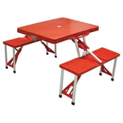 Picnic Time Outdoor Furniture Picnic Table; Red