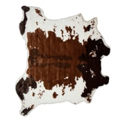 Luxe Chocolate/White Area Rug
