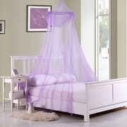 Click here to buy Casablanca Kids Raisinette Kids Collapsible Hoop Sheer Bed Canopy; Purple.