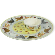 Boston International Spatter Hens Chip and Dip Platter