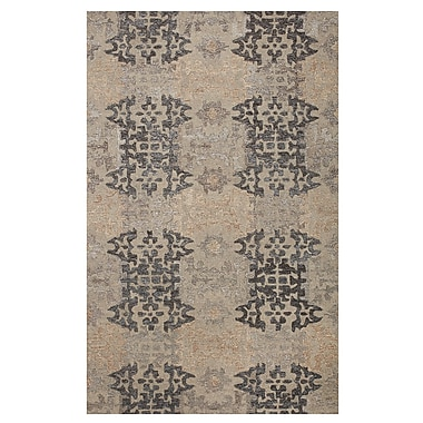 Darby Home Co Cassandra Tile Path Hand-Woven Grey Area Rug; 4' x 6'