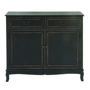 Cole U0026 Grey Wood Cabinet; Black