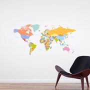 WallPops! Home Decor Line Colorful Map Wall Decal