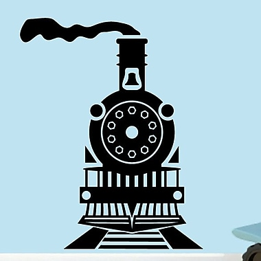 SweetumsWallDecals Train Wall Decal; Black
