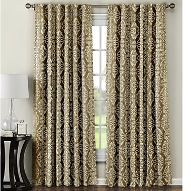 Window Elements Addison Curtain Panels (Set of 2); Taupe