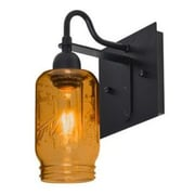 Besa Lighting Milo 1-Light Wall Sconce; Amber