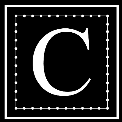 Enchantingly Elegant Letter ''C'' Wall Decal; 12'' H x 12'' W x 1'' D