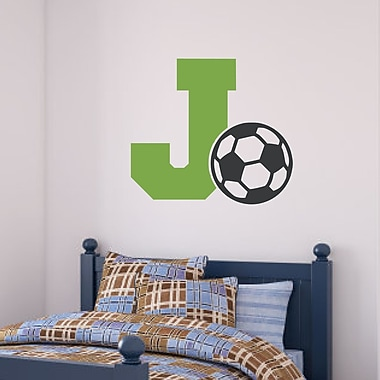 Enchantingly Elegant Letter ''J''and Soccer Ball Wall Decal; 17'' H x 21'' W x 1'' D