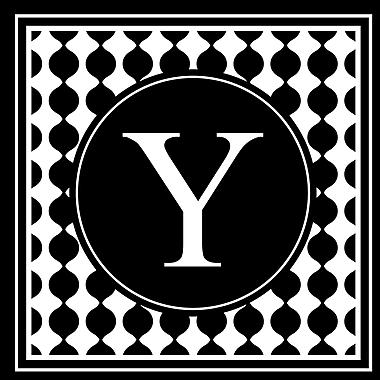 Enchantingly Elegant Letter ''Y'' Wall Decal; 22'' H x 22'' W x 1'' D