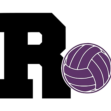 Enchantingly Elegant Monogram Letter ''R'' Volleyball Wall Decal; 22'' H x 31'' W x 1'' D