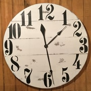 Essex Hand Crafted Wood Products Oversized 28'' Rayleigh Painted Wood Wall Clock