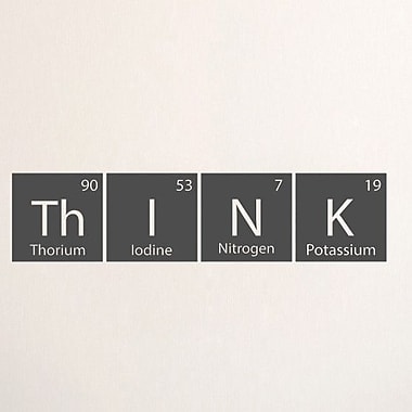 SweetumsWallDecals Think Periodic Table Wall Decal; Dark Gray