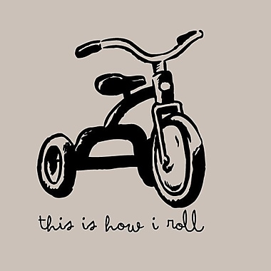 SweetumsWallDecals This Is How I Roll Wall Decal; Black