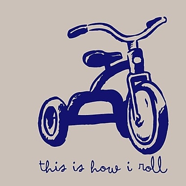 SweetumsWallDecals This Is How I Roll Wall Decal; Navy