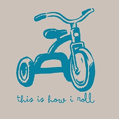 SweetumsWallDecals This Is How I Roll Wall Decal; Teal