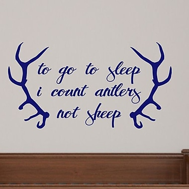 SweetumsWallDecals To Go to Sleep I Count Antlers Not Sheep Wall Decal; Navy